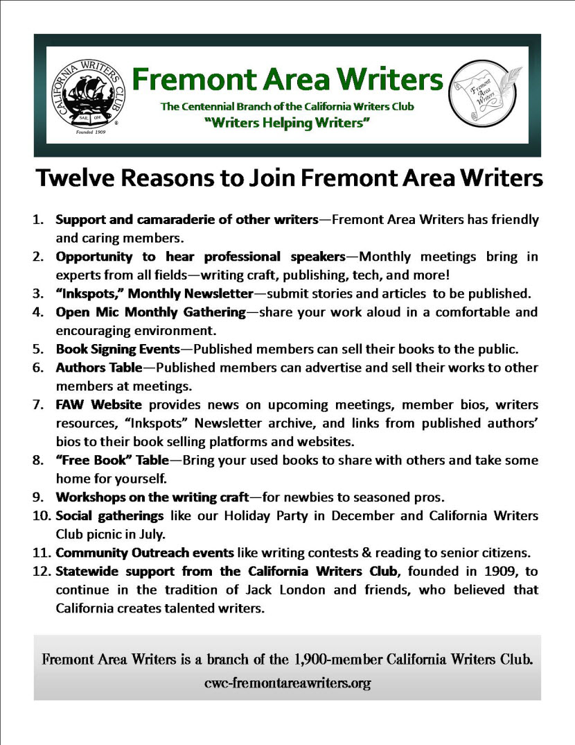 12 reasons to join fremont california writers club